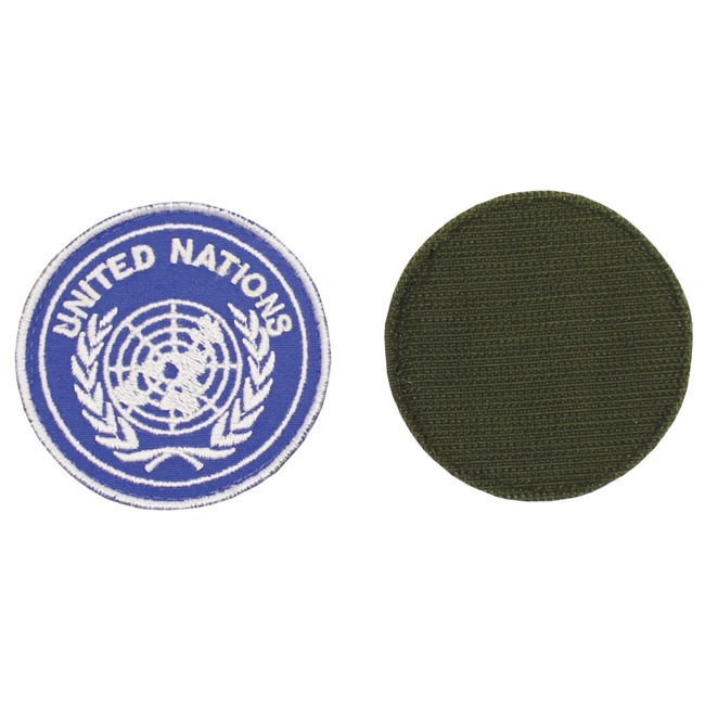 "Velcro Patch, blue, ""UNITED NATIONS"", like new"