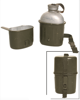 German OD Alu Canteen 3-pcs. Used