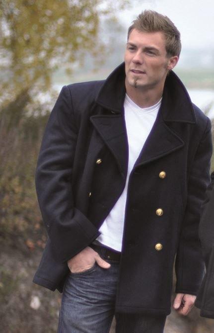 bc126aa931 Német tengerész kabát, gyapjúból, aranyszínű gombokkal | Ruházat ...