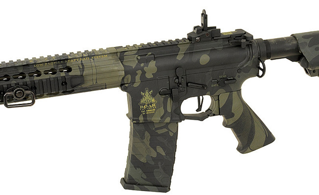 Replica riffle gun ASR117 Boar Tactical EBB Full-Metal - MultiCam Black [APS]