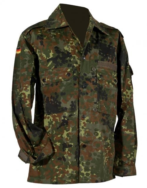 CAMASA GERMAN ARMY STYLE FLECKTARN CAMO FIELD SHIRT IMPORT