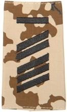 EMBLEMA - GERMAN ARMY TROPICAL CAMO/BLACK SHOULDER LOOPS ´OBERSTABSGEFREITER UA´