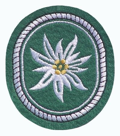 EMBLEMA GERMANA ´GEBIRGSJÄGER - EDELWEISS´ PATCH 75 x 65 MM