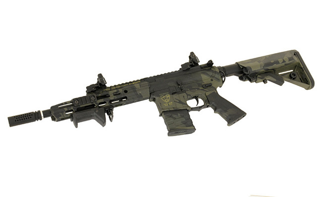 Replica riffle gun ASR111 GUARDIAN EBB Full-Metal - MultiCam Black [APS]