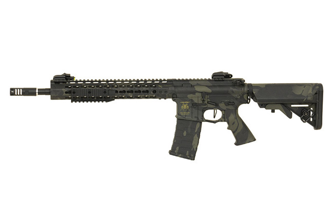 Replica riffle gun ASR115 SPYDER EBB Full-Metal - MultiCam Black [APS]