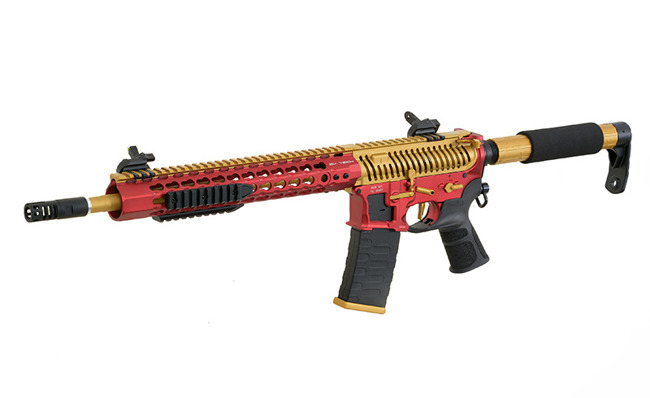 Replica riffle gun ASR121 Gold Dragon EBB Full-Metal - Gold/Red/Black [APS]