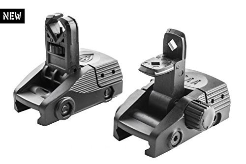 Sina scop BGF + BGR CAA Picatinny Front and Rear Backup Flip-Up Sights for Left and Right Handed Users